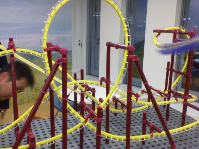 ジェットコースターの模型